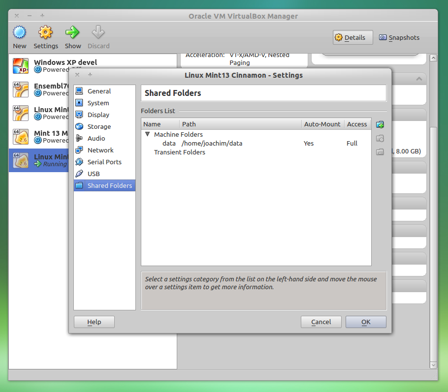 Create a virtual machine running a Linux distribution using