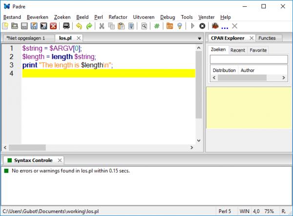 how to run perl script in windows